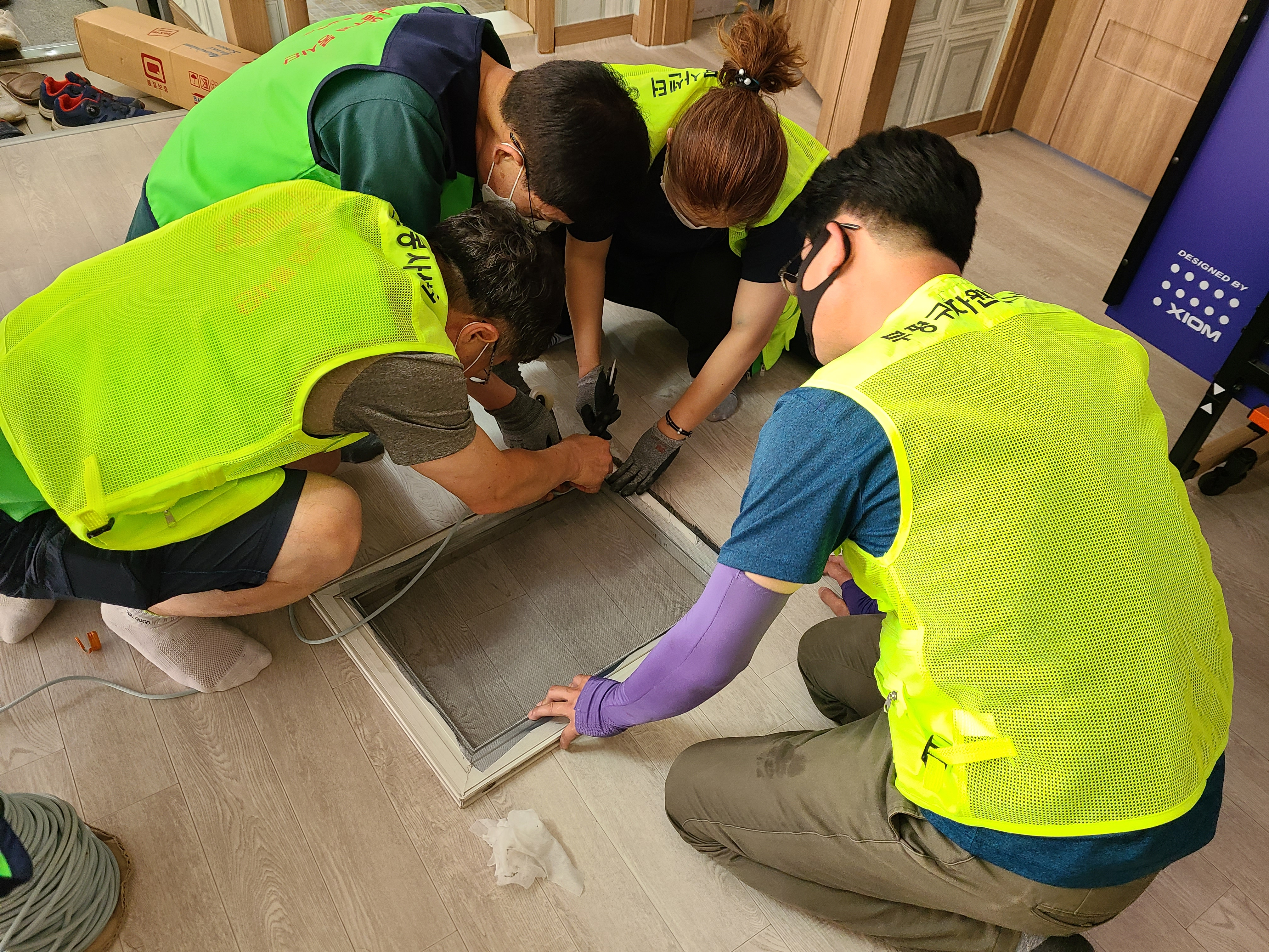 부평구 자원봉사센터, 우리들 쉼터서 집수리 봉사활동 실시