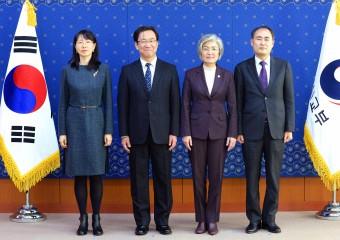 강경화 외교장관, 한중일 3국협력사무국[TCS] 사무총장단 접견